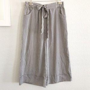 American Rag Striped Wide Leg Crop Trouser Pants